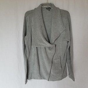 Market & Spruce asymmetrical zipper terry jacket